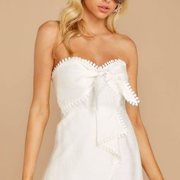 No Objections White Romper | Red Dress