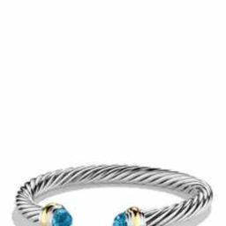 Cable Classics Bracelet with Semiprecious Stones & 14K Gold, 7mm | Nordstrom
