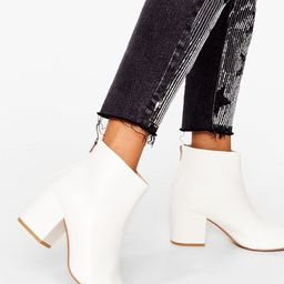 Stand By Me Faux Leather Ankle Boots | NastyGal (US & CA)