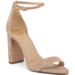 Two Piece Ankle Strap Suede Heels | TJ Maxx
