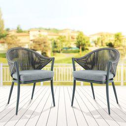 Mukul Patio Dining Chair with Cushion   Wayfair North America