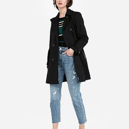 classic double breasted trench coat | Express