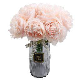 famibay Artificial Peony Bouquets Flower Head Vantage Fake Peony Silk Plastic Plants with Stem fo... | Amazon (US)