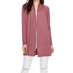 EttelLut Long Lightweight Wrap Cardigans Sweaters-Open Front Regular Plus Size | Amazon (US)