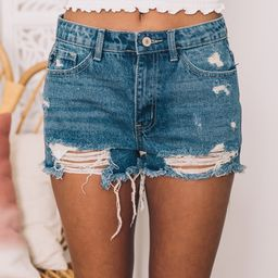Easy As Can Be Denim Shorts | The Pink Lily Boutique