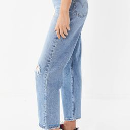 Levi's Ribcage High-Rise Straight Leg Jean – Haters Gunna Hate | Urban Outfitters (US and RoW)
