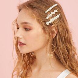 Faux Pearl Decor Hairpin 3pack | SHEIN