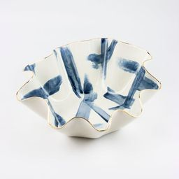 New! MADE TO ORDER Limited edition Brushstroke wavy shaped handmade ceramic bowl with 22K gold lu...   Etsy (US)