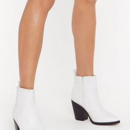 What's the Point Faux Leather Heeled Boots | NastyGal (US & CA)