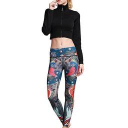 MUMUWU Women Yoga Pants Printed Workout Gym Running Leggings   Amazon (US)