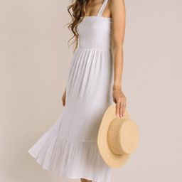 Peyton Tie Strap Smocked Midi Dress | Morning Lavender