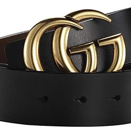 Big Hot Gold Buckle Leather Belt for Women Lady Unisex - USA Fast Deliver 2-7 Days Guarantee - 3....   Amazon (US)