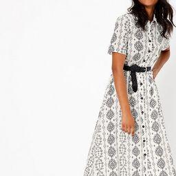 Printed Midi Shirt Dress | Marks & Spencer (UK)
