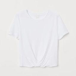Tie-detail Top - White - Ladies | H&M US | H&M (US)