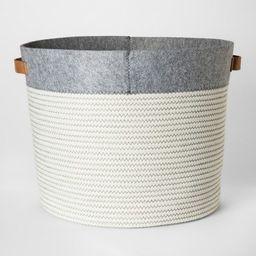 Large Round Fabric Toy Storage Bin Gray & White - Pillowfort™ | Target