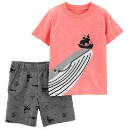 Baby Boy Carter's Whale & Ship Top & Printed Shorts Set | Kohl's