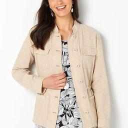 Linen Blend Jacket - CBK Web Store   Christopher & Banks (US)
