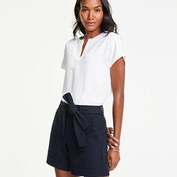 Marina Tie Waist Shorts | Ann Taylor (US)