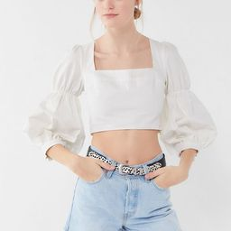 UO Romeo Puff Sleeve Cropped Top   Urban Outfitters (US and RoW)