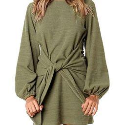 R.Vivimos Women's Autumn Winter Cotton Long Sleeves Elegant Knitted Bodycon Tie Waist Sweater Pen...   Amazon (US)