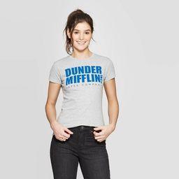 Women's The Office Dunder Mifflin Short Sleeve Graphic T-Shirt (Juniors') - Heather Gray | Target