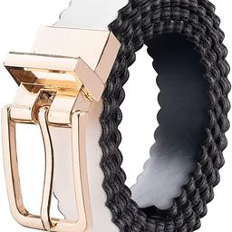 Scalloped Leather Reversible Adjustable Belts for Women with Buckle, Genuine Leather, Multi Color... | Amazon (US)