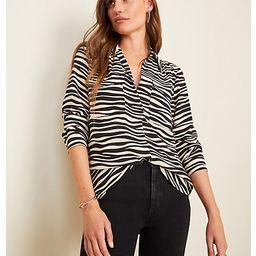 Zebra Print Camp Shirt | Ann Taylor (US)