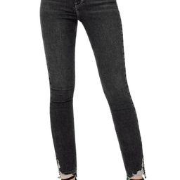 Jamie High Waist Ripped Hem Skinny Jeans | Nordstrom