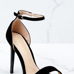 Timeless Moves Black Ankle Strap Heels | Red Dress