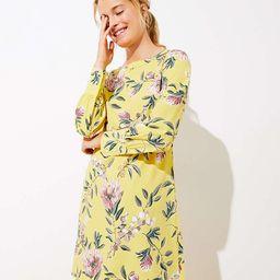 Floral Boatneck Shift Dress | LOFT
