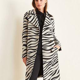 Zebra Print Trench Coat | Ann Taylor (US)