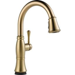 Cassidy Touch Single-Handle Pull-Down Sprayer Kitchen Faucet in Champagne Bronze | The Home Depot