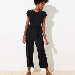 Petite V-Back Tie Waist Jumpsuit | LOFT