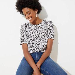Leopard Print Button Back Top | LOFT