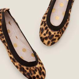 Hettie Ballerinas - Tan Leopard/Black   Boden UK   Boden (UK)