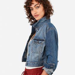 shortie denim jacket   Express
