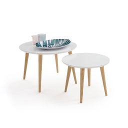 JIMI Set of 2 Semi-Nesting Tables | La Redoute (UK)
