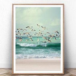 Coastal Wall Art Set of 6 Prints with Pink Surfboard, Retro Van, Pastel Lifeguard. Summer Califor...   Etsy (UK)