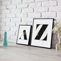 Personalised letter print - monogram - alphabet - house print- living room print - monochrome pri... | Etsy (UK)