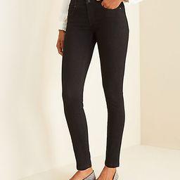 Sculpting Pockets High Rise Skinny Jeans in Jet Black Wash | Ann Taylor (US)