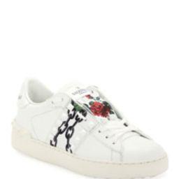 Rockstud Undercover Rose-Print Sneakers | Bergdorf Goodman