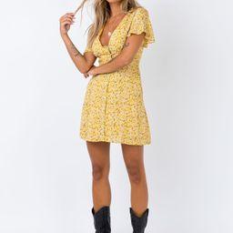 The Same Same Mini Dress Yellow   Princess Polly