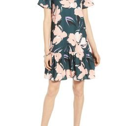 Short Sleeve Ruffle Hem Dress | Nordstrom