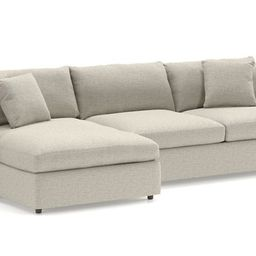 Lounge II Steel Grey Sectional Sofa + Reviews   Crate and Barrel   Crate & Barrel