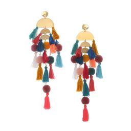 Women's Beaded Tassel Earrings Statement Fringe Drop Bohemian Earrings Geometric Dangle for Women   Amazon (US)