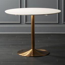 Odyssey Brass Dining Table + Reviews | CB2 | CB2