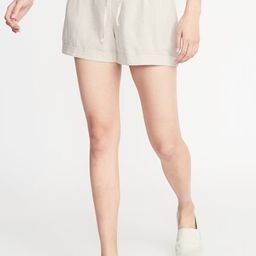 Mid-Rise Linen-Blend Shorts for Women - 4-inch inseam | Old Navy US