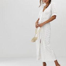 ASOS DESIGN broderie maxi tea dress | ASOS US