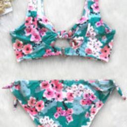 Cherry Blossom Double Knot Bikini | Cupshe