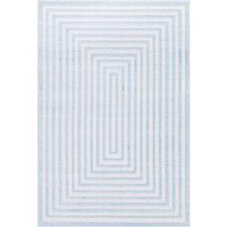 Sabrina Soto Light Blue 4 ft. x 6 ft. Prescott Indoor/Outdoor Area Rug | The Home Depot